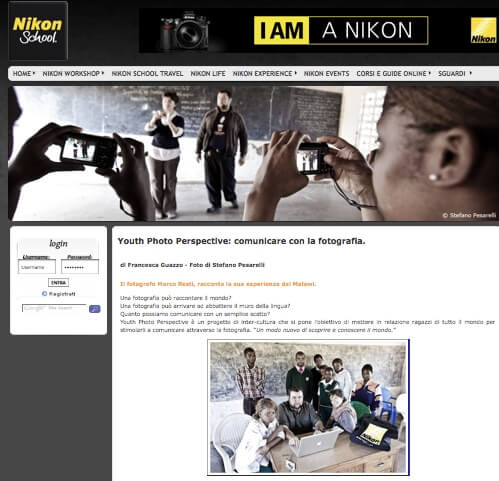 Nikon life school in Malawi. Youth Photo Perspective di Marco Resti. Fotografie di Stefano Pesarelli