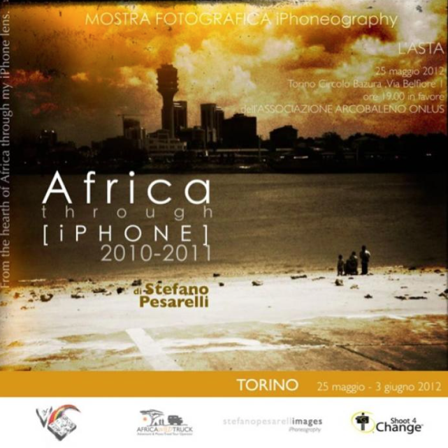 Iphoneography. La mostra Africa through iPhone di Stefano Pesarelli, si sposta e va all'asta