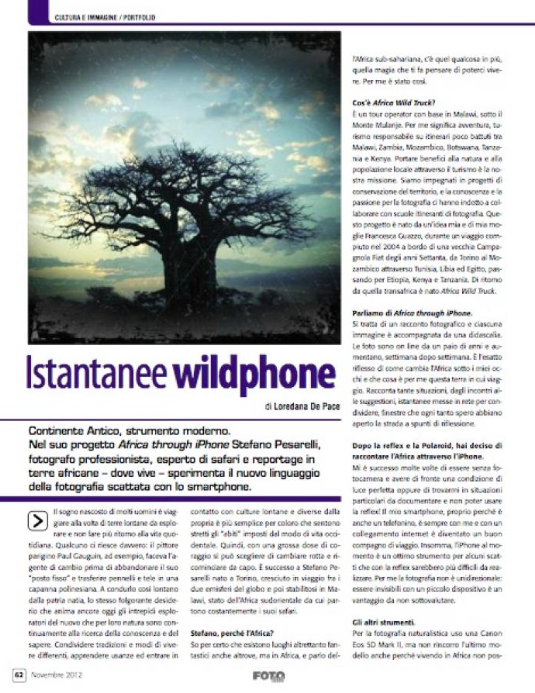 Istantanee iPhone: Wildphone! Fotocult di Novembre