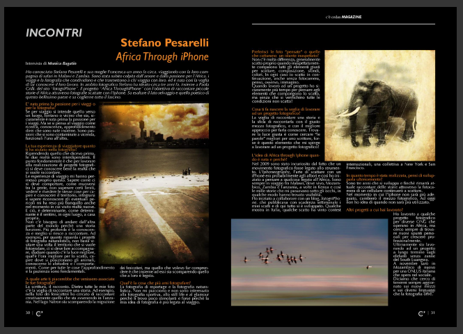 Africa through iPhone su C'E' la rivista Cestas.