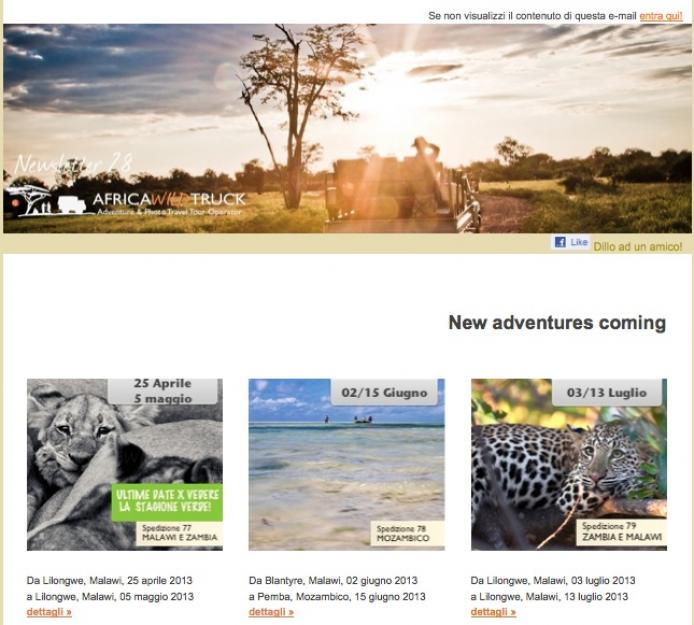 African news? La newsletter 28 di Africa Wild truck è on line!